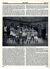 Fußball Italien siegt im Länderspiel gegen Deutschland Duisburg Memorabilie 1924