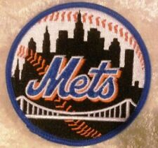 """NY New York Mets Black 3.5"""" Iron /Sew On Embroidered Patch~FREE Ship!"""