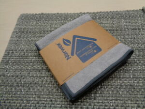 Norwex Body and Face Cloth   3 Pack   Light Grey with Slate Trim    New