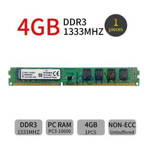Kingston 4GB DDR3 1333MHz PC3-10600 KVR1333D3N9/4G DIMM Desktop Memory SDRAM BT