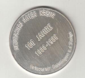 BRD Medaille Geislingen a.d. Steige/ Deut. Rotes Kreuz 100Jahre 1988 Nr.69/4/19