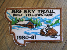 vintage 1980 1981 West Yellowstone Big Sky Trail Souvenir Snowmobile Patch