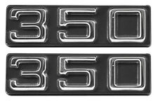 NEW Trim Parts 350 Front Fender Emblem PAIR / FOR 1970-75 CHEVY CAMARO / 6831