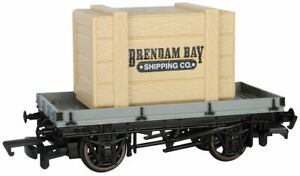 Bachmann Trains H O PLANK WAGON WITH BRENDAM BAY SHIPPING CRATE 77403 New TTT
