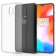 Transparent Clear Soft TPU Case For OnePlus 6T Silicone Cover Back Side