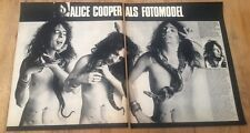 ALICE COOPER 'the model' 2 page  magazine PHOTO/Poster/clipping 12X10 inches