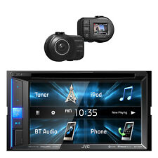 JVC KWV25BT 2-DIN Bluetooth Car Stereo Receiver with Kenwood Full HD Dash Cam