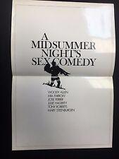 """A MIDSUMMER NIGHT'S SEX COMEDY vintage Variety insert (1982) 11""""x 15"""" Mia Farrow"""