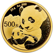 2019 500 Yuan Gold Chinese Panda .999 30g BU Sealed