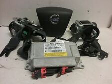 12 13 Volvo S60 airbag set wheel belts module OEM black P31334279
