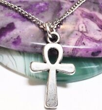 "ANKH_Small Pendant on 18"" Chain Necklace_Ancient Egyptian Life Symbol Luck_113N"