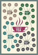 Types of Tea Poster Print, 13x19