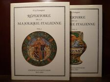 Arte catalogo maioliche italiane Repertoire Majolique italienne 2 voll 1986