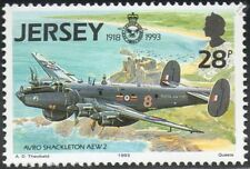 RAF AVRO SHACKLETON AEW.2 Aircraft Stamp (Jersey 1993)