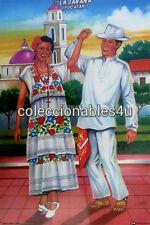 POSTER painting print La jarana yucatan   mexico  11x16