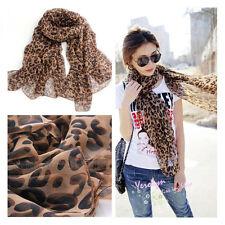 Women Lady Girl Animal Leopard Panther Prints Chiffon Shawl Wrap Scarf Hot Style