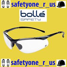 Bolle Safety Glasses - Sidewinder - Gun Metal Gloss Frame - Clear Lens