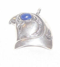 HORUS Pendant Egyptian 925 Silver - Natural Lapis WARRIOR FALCON God EYE OF RA