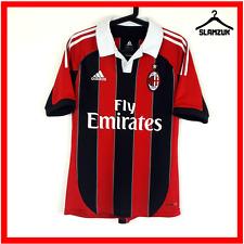 Adidas AC Milan Football Shirt S Small Home Red Black Soccer Jersey 2012 2013