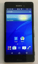 SONY Xperia M4 Aqua E2306 Smartphone GSM 4G Black ROGERS Cracked Screen.  (So1)