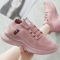 Women's Sneakers Breathable Mesh Flat Sport Casual Walking Running Shoes Fashion