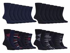 Farah - 7 Pack Mens Striped Argyle Luxury Cotton Suit Dress Socks with Soft Top