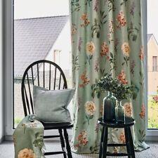 """stoffdesign!""FLORENTINA*Stoff fabric Meterware grün grosse Blumen Gardisette"
