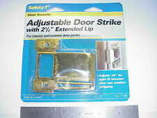 "Safety 1st Polished Brass 2 1/2"" Extended Lip Adjustable Door Lock Strike"