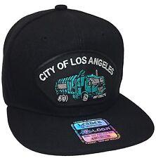 City Of Los Angeles Sanitation Truck Hat Color Black Snapback