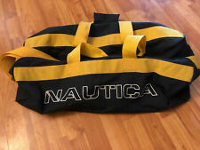 Vtg Nautica Duffle Bag Soft Large 9x11x25 Weekend Gym Travel Sports Luggage 90s