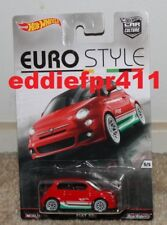 1/64 HOT WHEELS EURO STYLE FIAT 500 HATCH 2016 RELEASE MINT ON CARD DIECAST