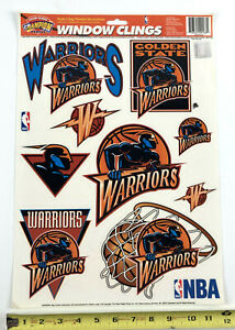 Golden State Warriors 11.75 x 17 Window Clings Decal Vintage '96 Champion Series