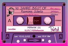40 Einladungskarten Geburtstag Einladungen Musik Party JEDES ALTER 30 50 18  Tape