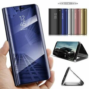 Phone Case Cover for Huawei Y6 2019 Flip Leather Smart Clear View features