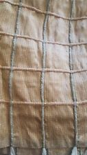 "QUEEN BED SKIRT 100% SILK  Window pane Silk with Jute 21"" length Split Corners"