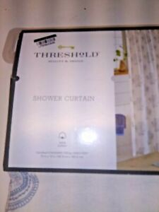 Threshold Shower Curtain 72 x 72 Color Block Print Medallion