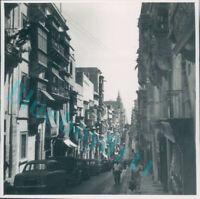 St Paul Street Valletta Malta in the 1950's Original photo