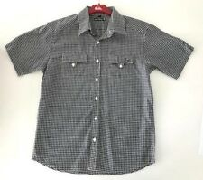 BNWT QUIKSILVER MENS SQUAD CAR CHECKED SHORT SLEEVE WOVEN SHIRT (MED) $69.99