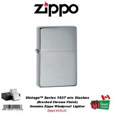 Zippo Vintage Series 1937 Lighter, without Slashes, Br Chrome, Windproof #230.25