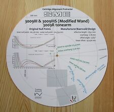 SME 3009R/3009III, 3009IIIS w.Modified Wand (Larger Shell) Tonearm Protractor