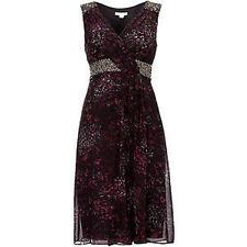 BNWT Monsoon Magnolia Plum Silk Embellished Evening Occasion Dress Size 12 NEW