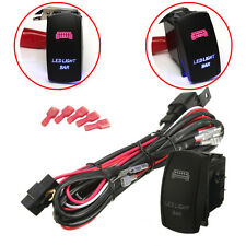 40A 300W Relay Fuse Wiring Harness LED Light Bar On Off Laser Rocker Switch 5Pin