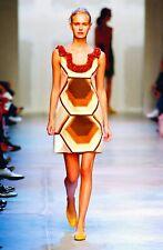 Rare 2005 Miu Miu Retro print Mini shift dress size 38