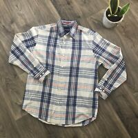 Tommy Bahama Mens Button Down Shirt Blue Size Small Long Sleeve 100% Cotton