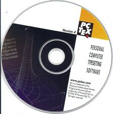 Type Setting Software ~ PC Tex PCTex Ver 4 (pctex.com Personal Tex CD)