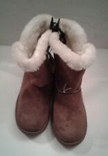 "Women's JoeBoxer 9"" Microfiber Boots Chestnut Size 7"