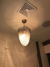 Designer Alan Mizrahi Silver Chain Collection Large Pendant Chandelier Light
