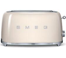 Smeg TSF02CRUK Toaster Cream 4 Slice 50's Retro Style Defrost Bagel Extra Wide