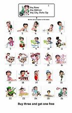 Personalized Return Address Labels Betty Boop Buy 3 get 1 free(mo9)