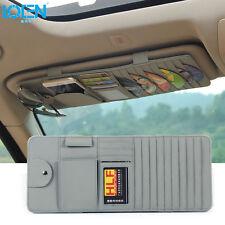 10 Disk CD DVD Auto Car Sun Visor Holder Storage Organizer Case For BMW Gray